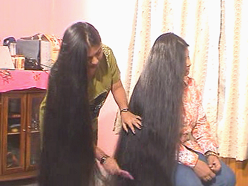 INDIAN LONG HAIR VIDEO
